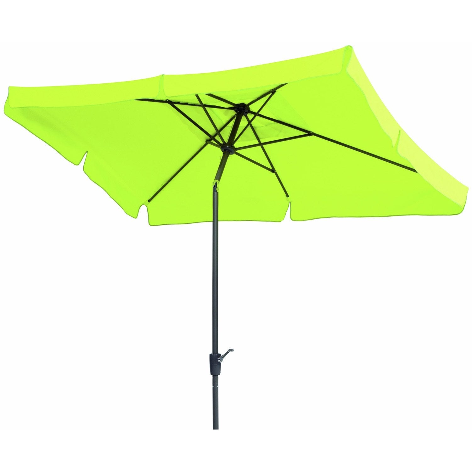 Parasol droit new york vert pomme rectangulaire x l - Parasol deporte inclinable leroy merlin ...