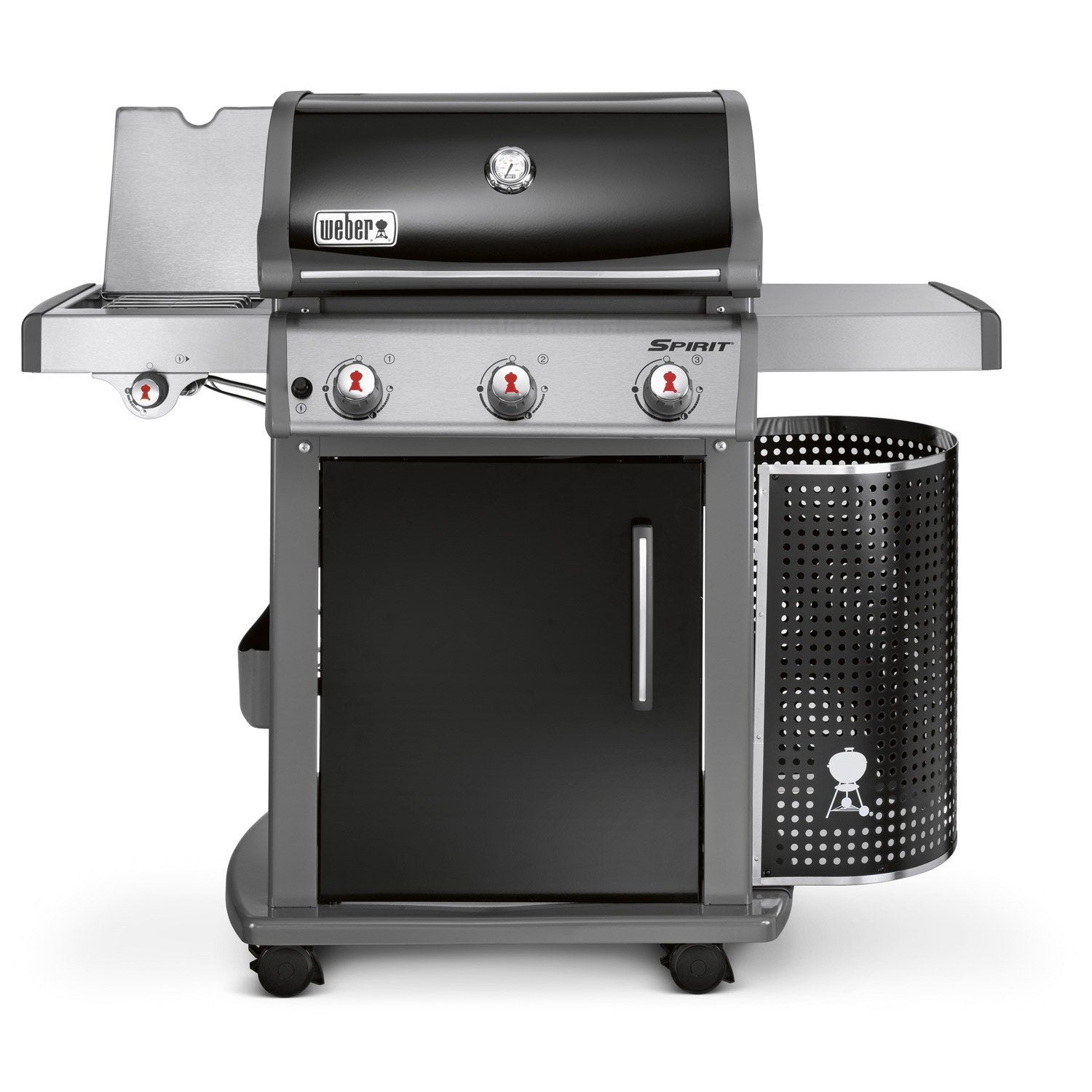Barbecue au gaz weber spirit e320 black leroy merlin for Barbecue weber gaz q120