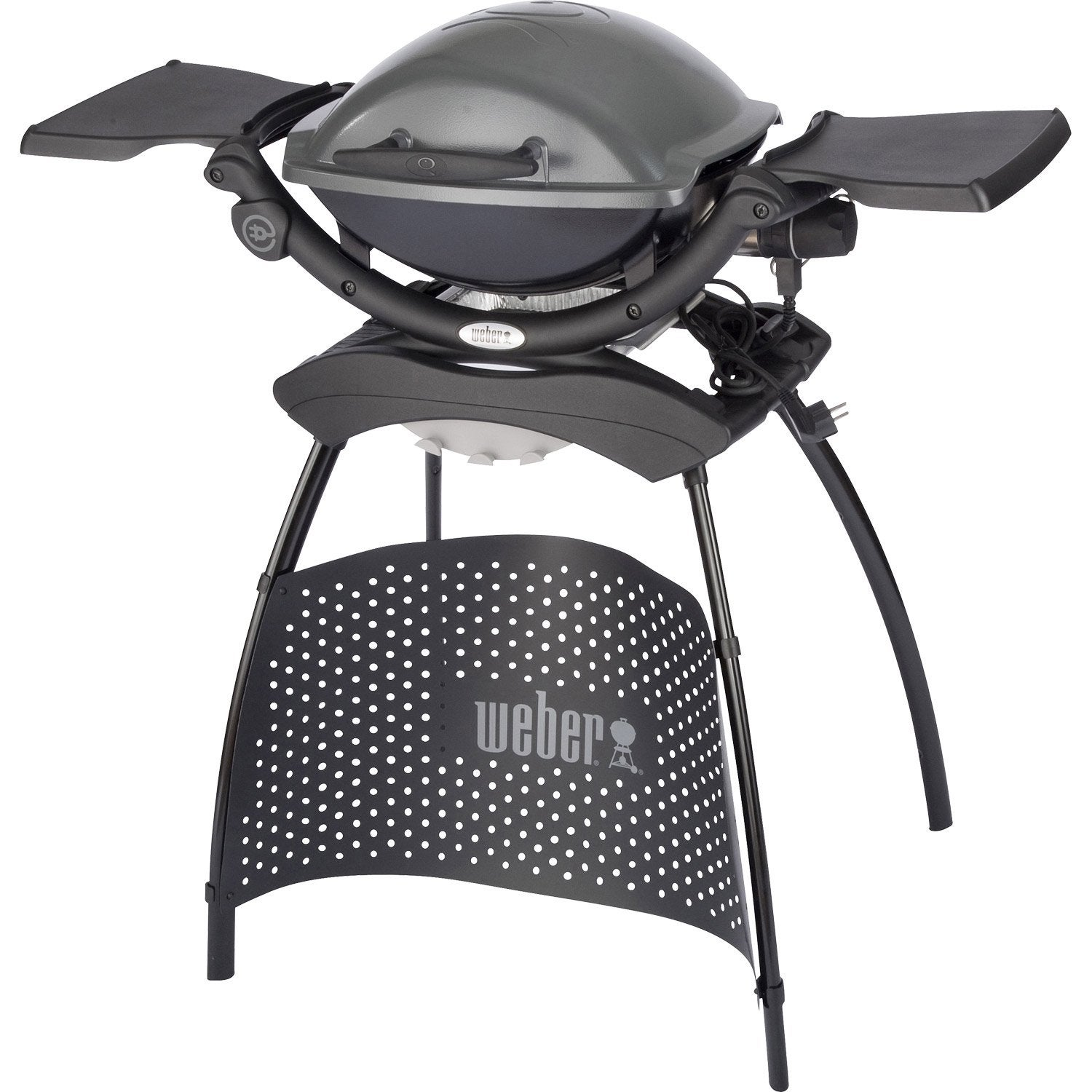 Barbecue electrique weber weber q 1400 stand leroy merlin for Barbecue exterieur leroy merlin