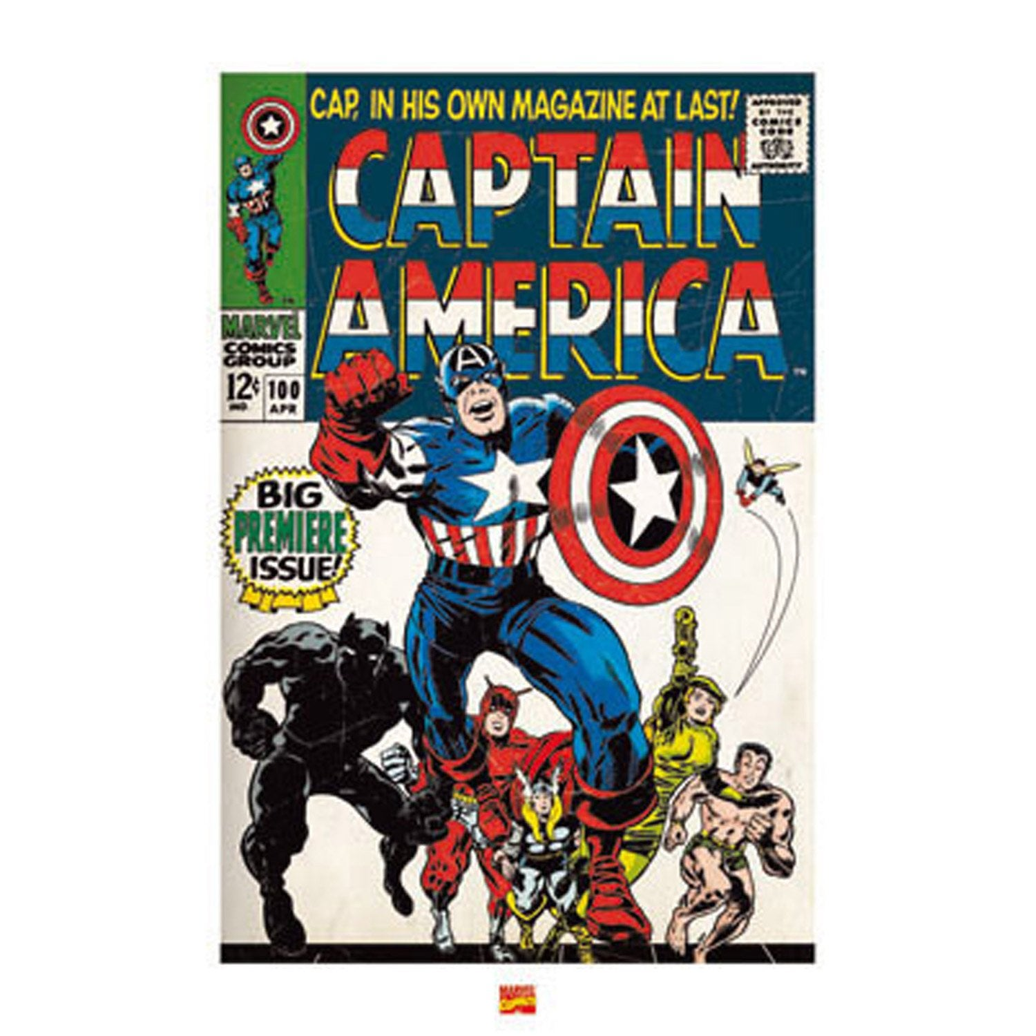 affiche marvel captain america x cm leroy merlin. Black Bedroom Furniture Sets. Home Design Ideas