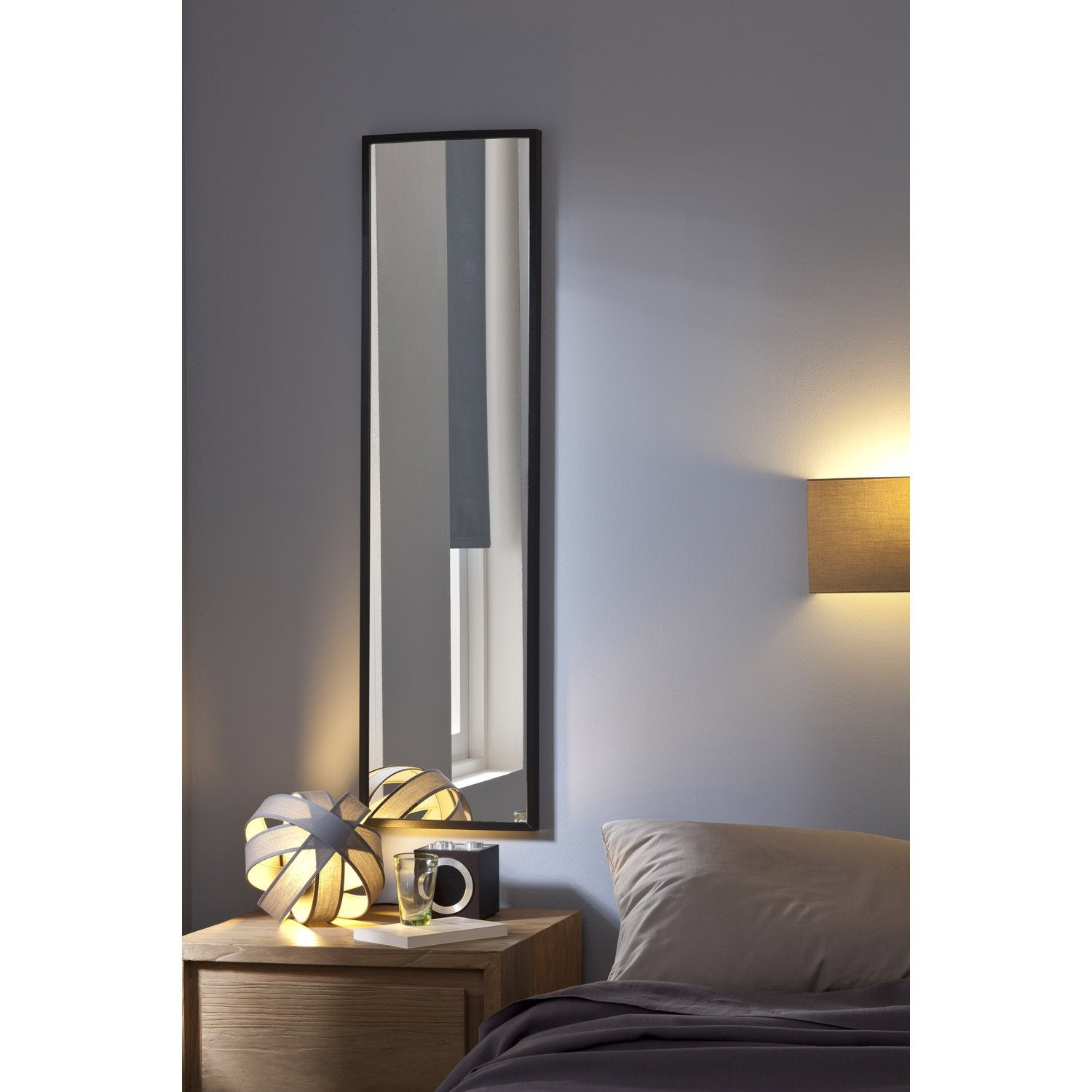 miroir lario inspire argent x cm leroy merlin. Black Bedroom Furniture Sets. Home Design Ideas