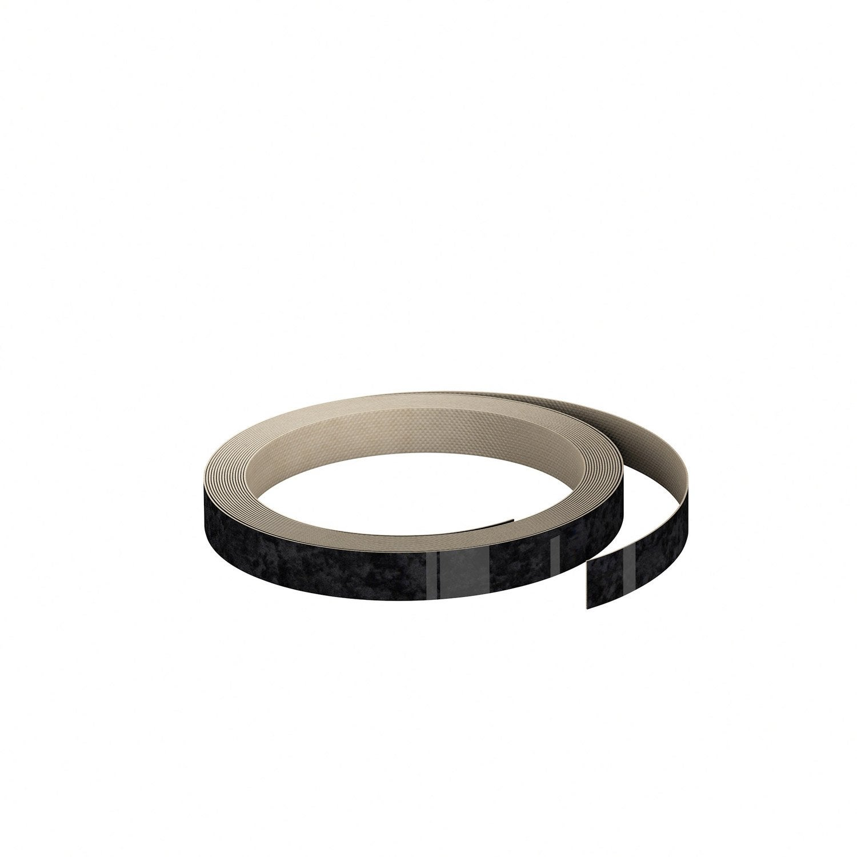 chant de cr dence stratifi effet marbre noir brillant l 1 3 x cm leroy merlin. Black Bedroom Furniture Sets. Home Design Ideas