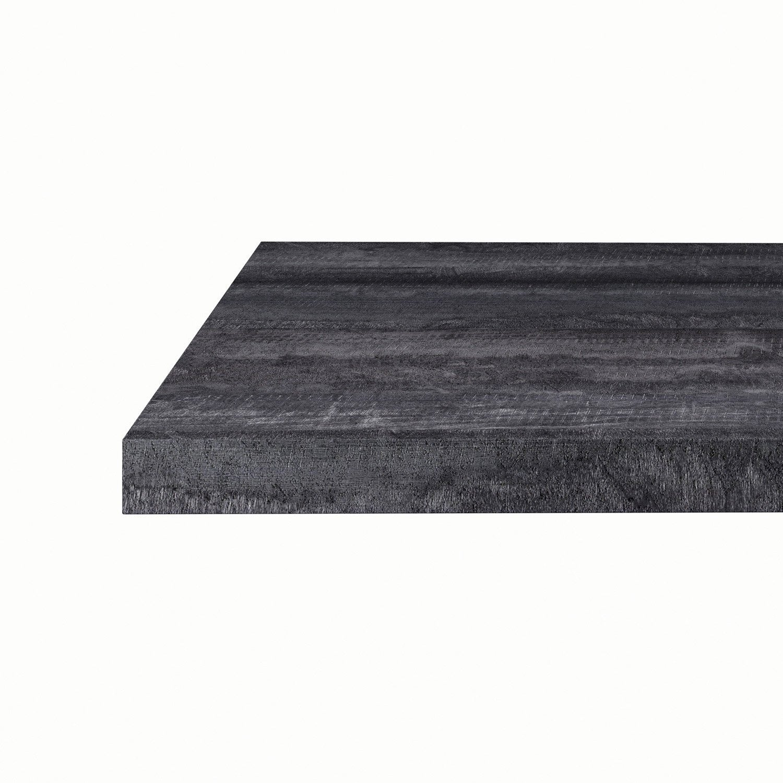plan snack stratifi vintage wood noir mat x cm mm leroy merlin. Black Bedroom Furniture Sets. Home Design Ideas
