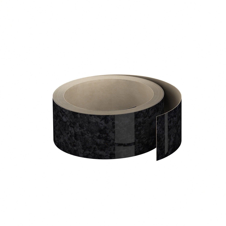 Nice Plan De Travail Marbre Prix #7: Chant-plan-travail-stratifie-effet-marbre-noir-brillant-l-500-l-4-5cm-ep-0-5mm.jpg