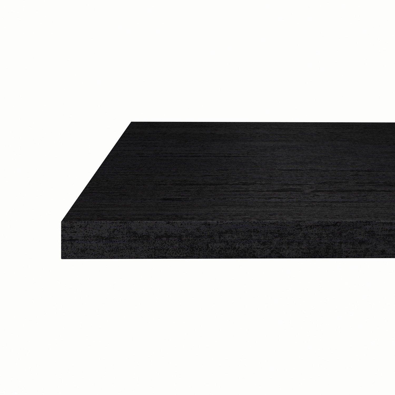 plan snack stratifi effet m tal noir mat x cm mm leroy merlin. Black Bedroom Furniture Sets. Home Design Ideas