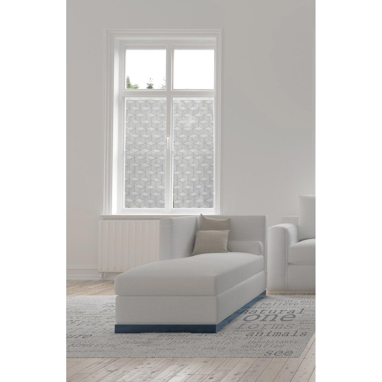 vitrage tamisant petite hauteur cube blanc x. Black Bedroom Furniture Sets. Home Design Ideas