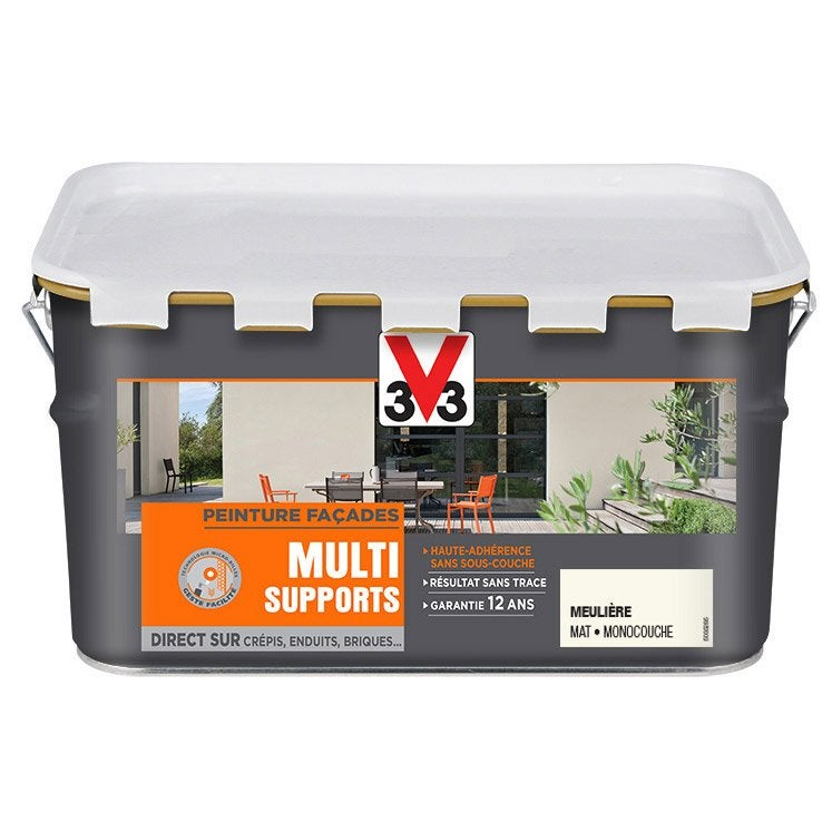 Peinture fa ade multi support v33 meuliere 2 5 l leroy - Leroy merlin peinture facade ...