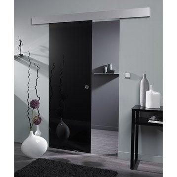 Porte coulissante verre feuillet vegas artens 204 x 73 cm leroy merlin - Porte coulissante verre leroy merlin ...