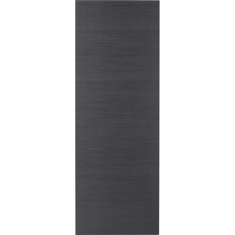 Porte coulissante rev tu d cor ch ne gris londres 204 x 83 cm leroy merlin - Porte coulissante pleine ...