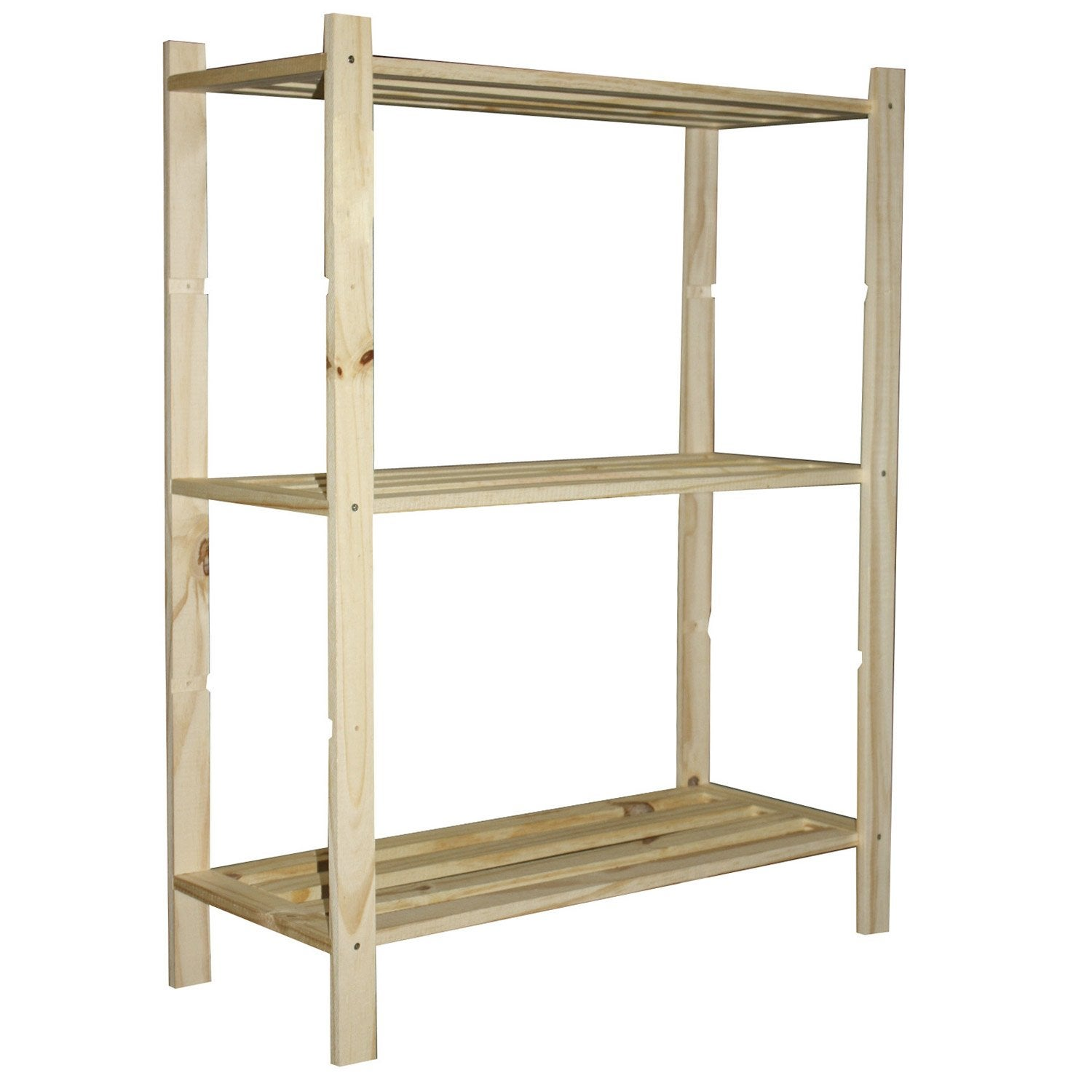 Etag re pin 3 tablettes x x cm leroy merlin - Etagere bois leroy merlin ...
