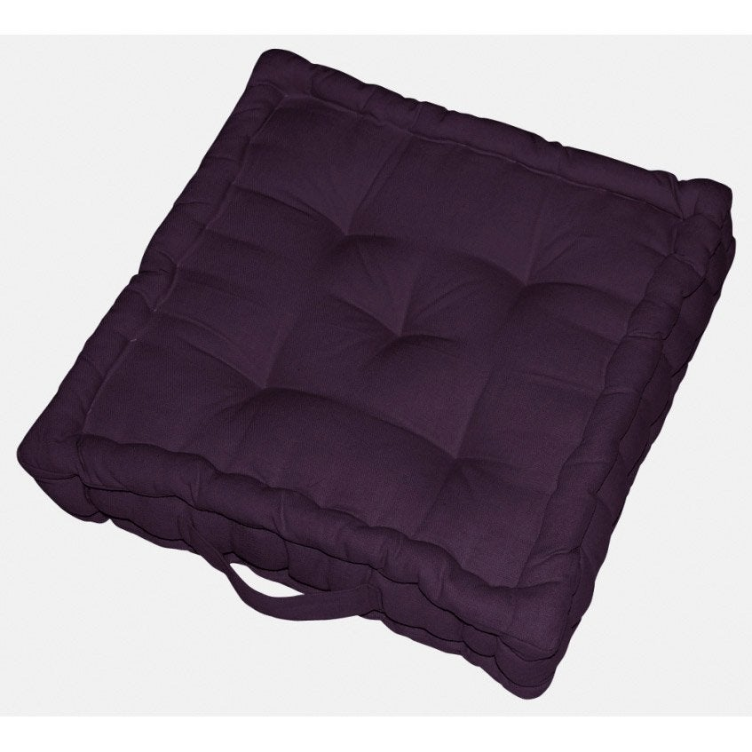 coussin de sol cl a inspire violet aubergine n 1 x x cm leroy merlin. Black Bedroom Furniture Sets. Home Design Ideas