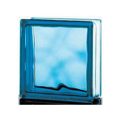 brique de verre bleu ciel ondul brillant leroy merlin. Black Bedroom Furniture Sets. Home Design Ideas