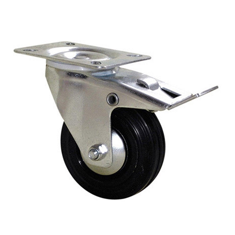 Roulette pivotante freins platine mm leroy for Mini roulette pour meuble