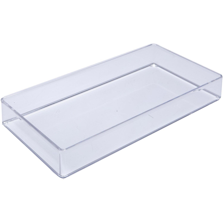 organiseur en plastique transparent puzzle leroy merlin. Black Bedroom Furniture Sets. Home Design Ideas