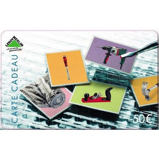 Carte cadeau passion bricolage 50 euros leroy merlin - Carte fidelite leroy merlin gratuite ...