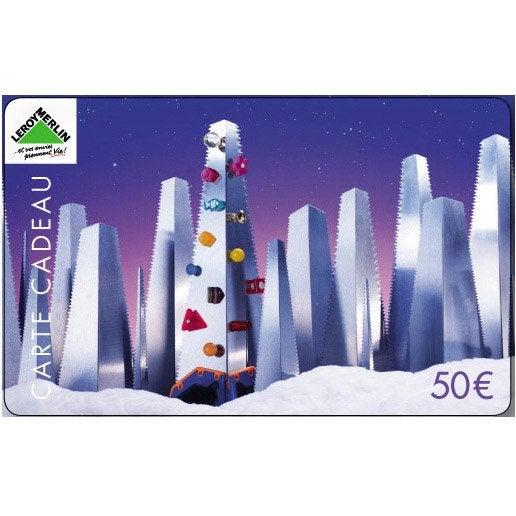 Carte cadeau joyeuses f tes 50 euros leroy merlin - Carte cadeau leroy merlin ...