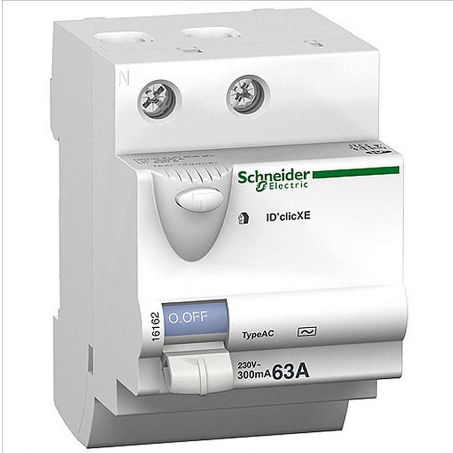 Interrupteur diff rentiel schneider electric 30ma 63a ac - Disjoncteur differentiel type a ...