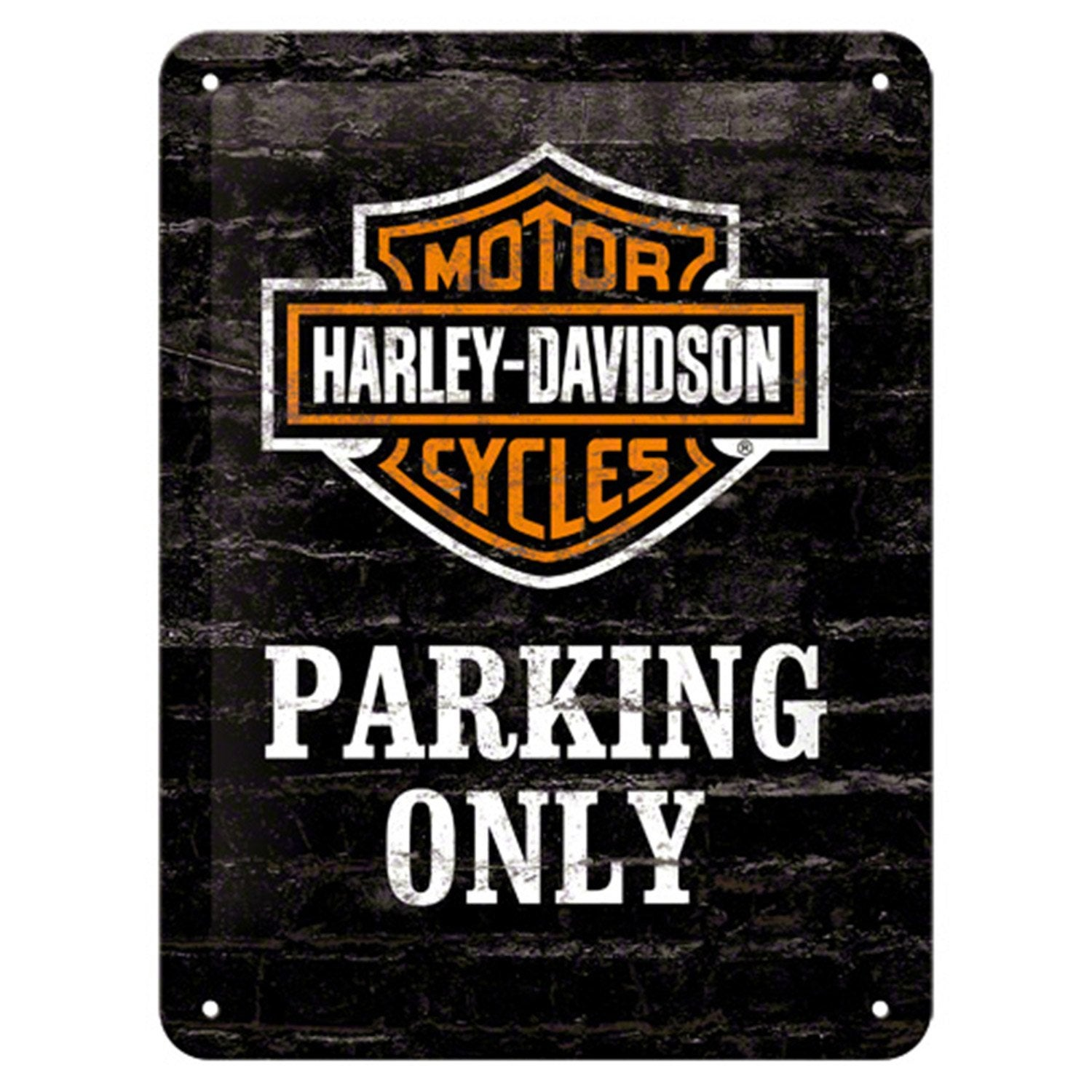 plaque m tal harley parking x cm leroy merlin. Black Bedroom Furniture Sets. Home Design Ideas