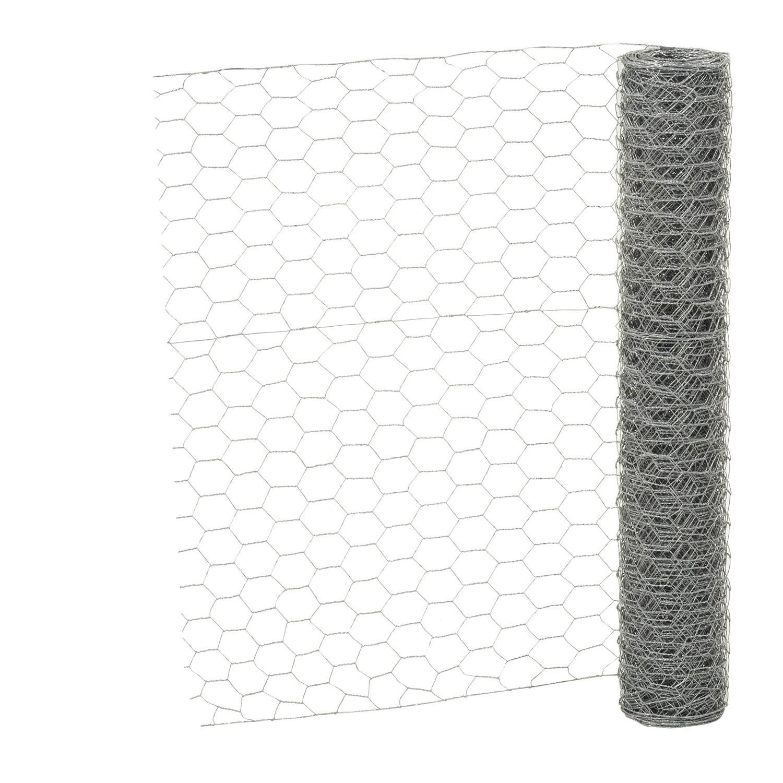 grillage pour animaux triple torsion gris h 0 5 x m. Black Bedroom Furniture Sets. Home Design Ideas
