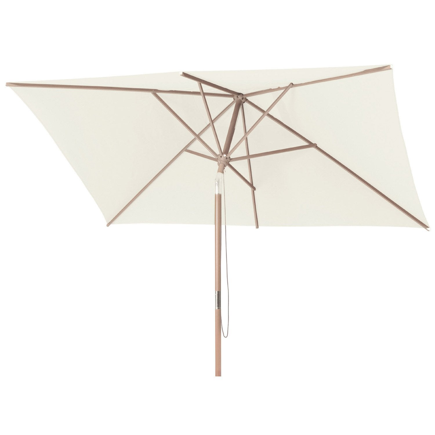 Parasol droit malaga naturel rectangulaire x - Parasol deporte inclinable leroy merlin ...