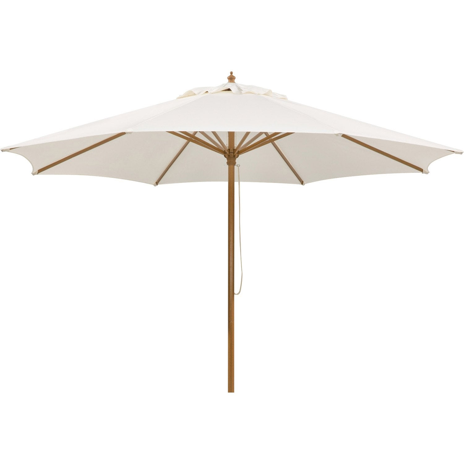 parasol droit malaga schneider naturel 7 6 m leroy merlin. Black Bedroom Furniture Sets. Home Design Ideas