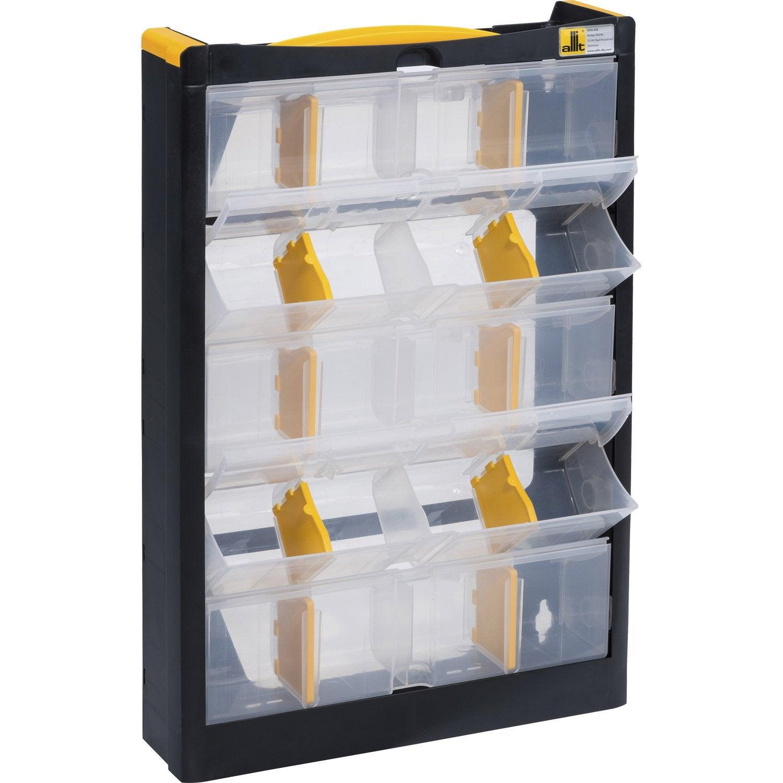 casier vis en plastique 9 tiroirs haut 46 5 x larg 30 x prof 8 cm leroy merlin. Black Bedroom Furniture Sets. Home Design Ideas