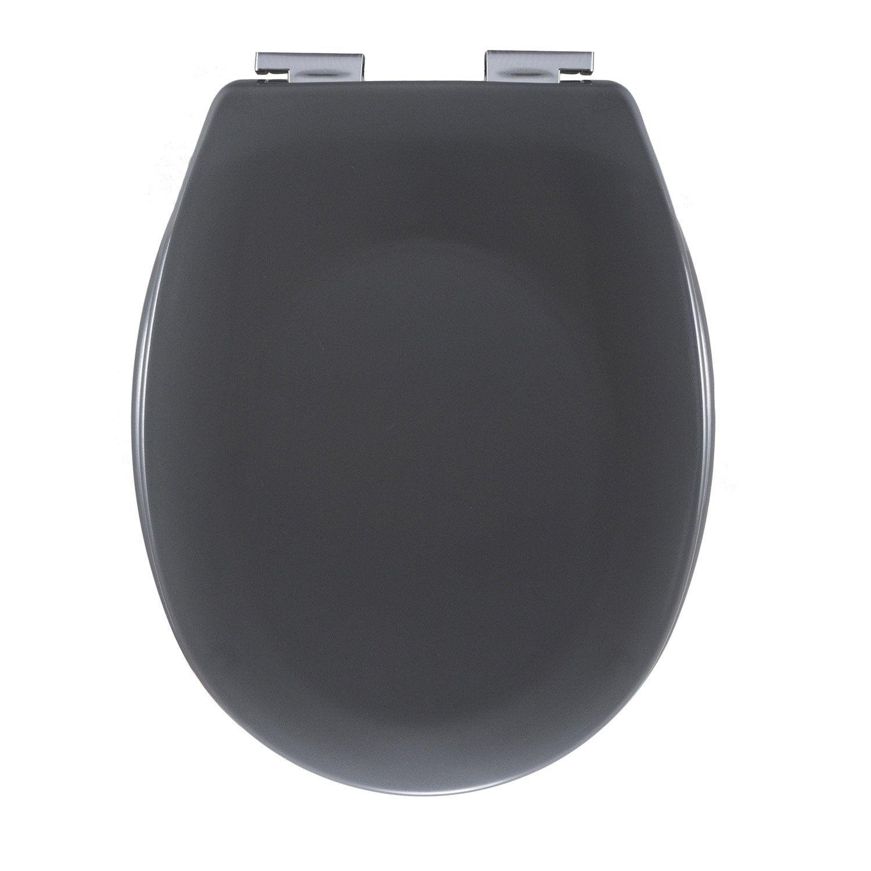 abattant frein de chute gris plastique thermodur sensea sparta leroy merlin. Black Bedroom Furniture Sets. Home Design Ideas