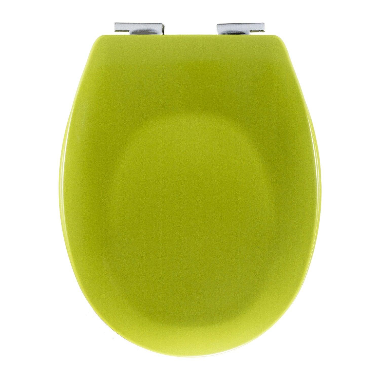 abattant wc sensea sparta jaune anis n 3 leroy merlin. Black Bedroom Furniture Sets. Home Design Ideas