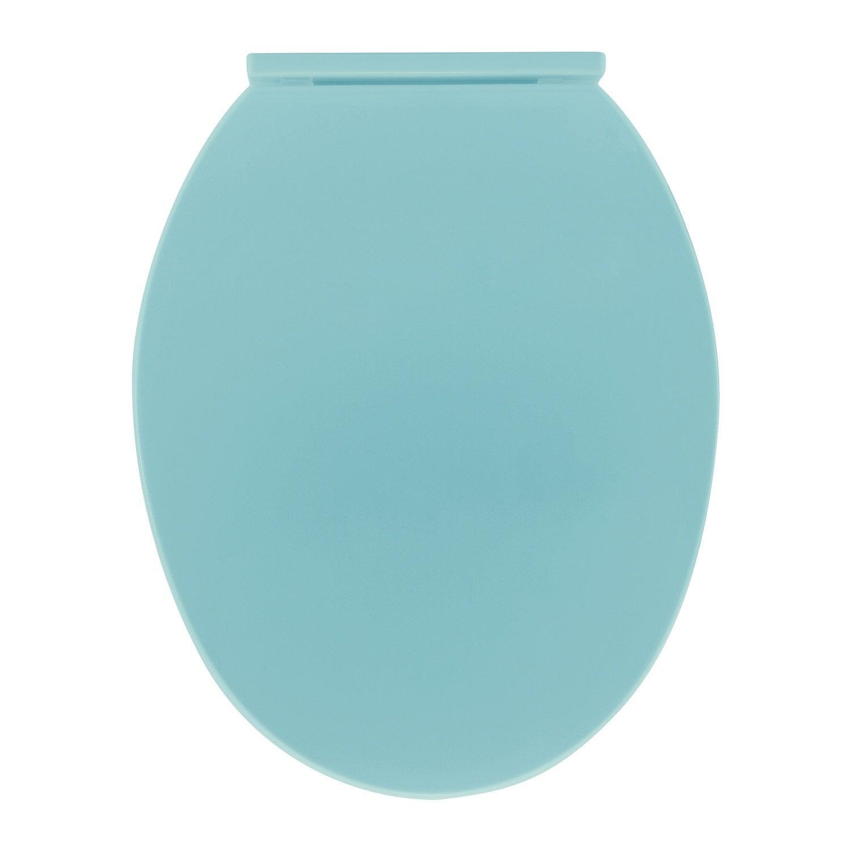 abattant frein de chute bleu polypropyl ne polly leroy merlin. Black Bedroom Furniture Sets. Home Design Ideas