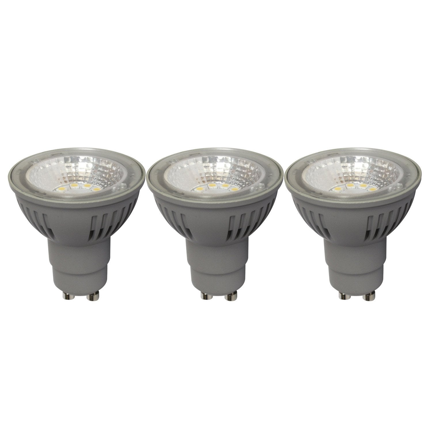 Lot de 3 ampoules r flecteur led 5w 50w lumi re douce for Ampoule 12v 20w leroy merlin