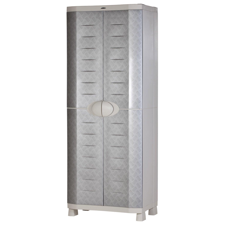 armoire haute r sine 4 tablettes plastiken x x. Black Bedroom Furniture Sets. Home Design Ideas
