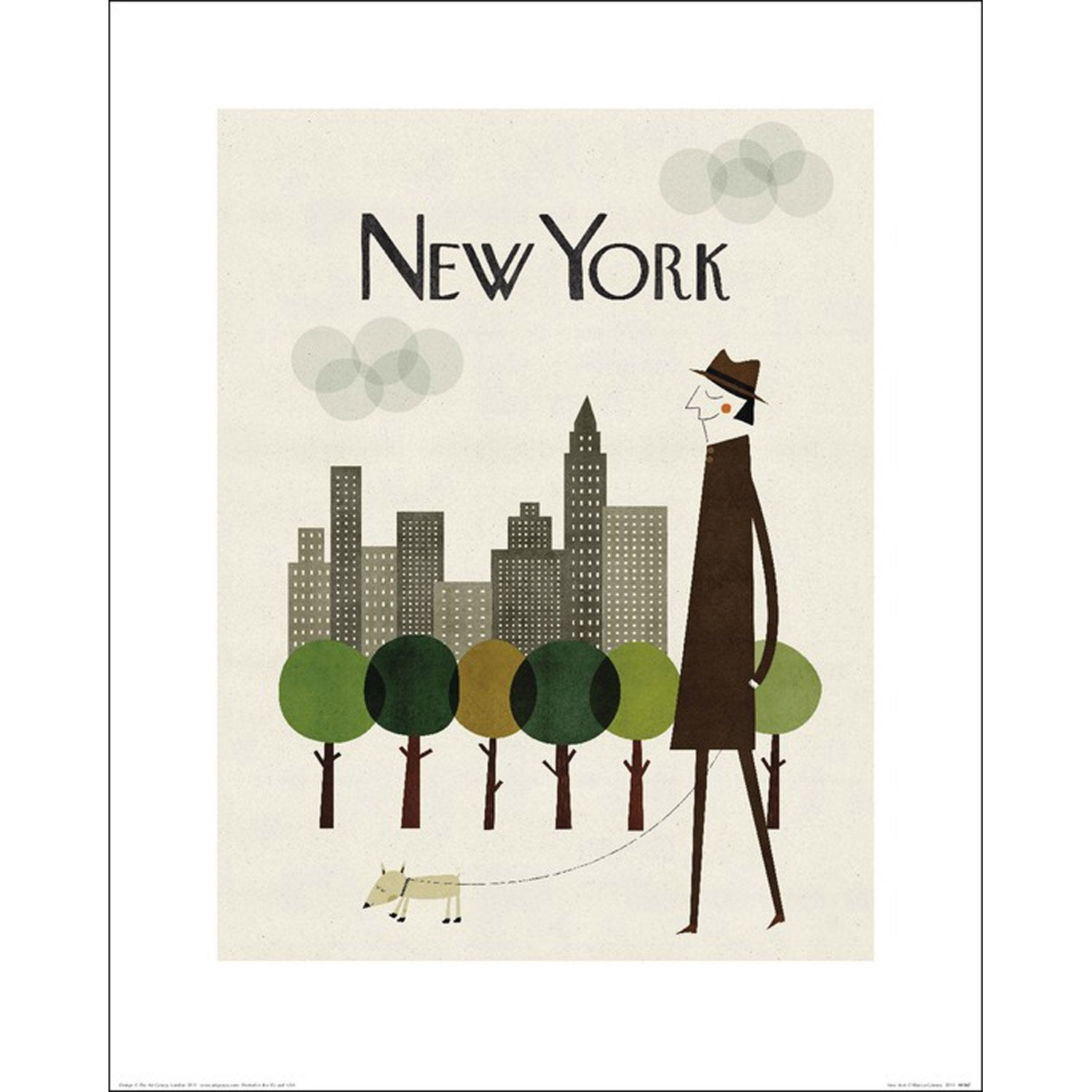 affiche new york x cm leroy merlin. Black Bedroom Furniture Sets. Home Design Ideas