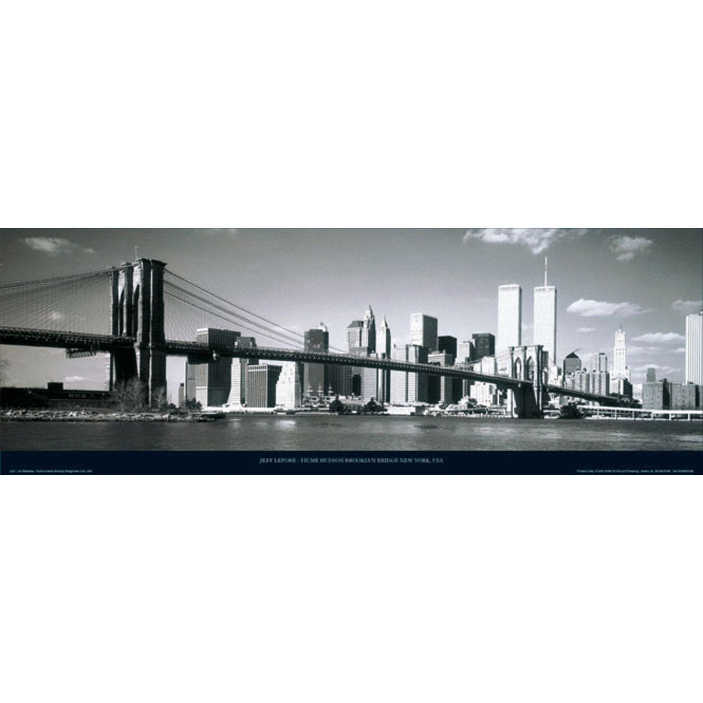 affiche brooklyn bridge ny x cm leroy merlin. Black Bedroom Furniture Sets. Home Design Ideas