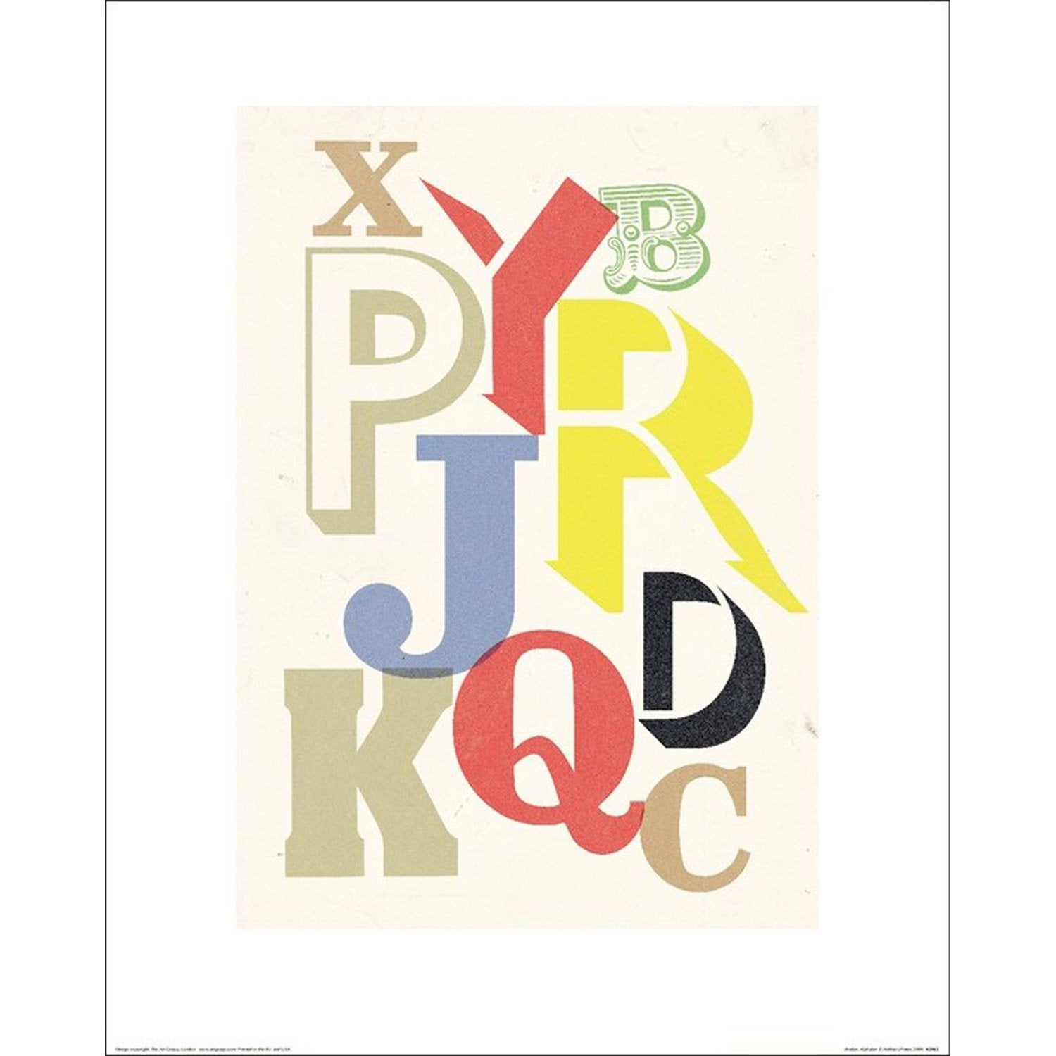 affiche broken alphabet x cm leroy merlin. Black Bedroom Furniture Sets. Home Design Ideas