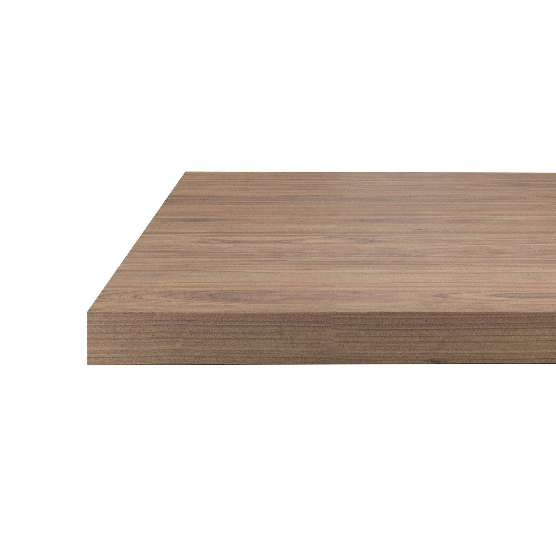 plan snack stratifi effet noyer mat x cm mm leroy merlin. Black Bedroom Furniture Sets. Home Design Ideas