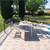 Salon de jardin Hata blanc, 4 personnes