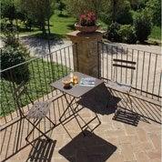 Salon de jardin Cassis brun marron, 2 personnes