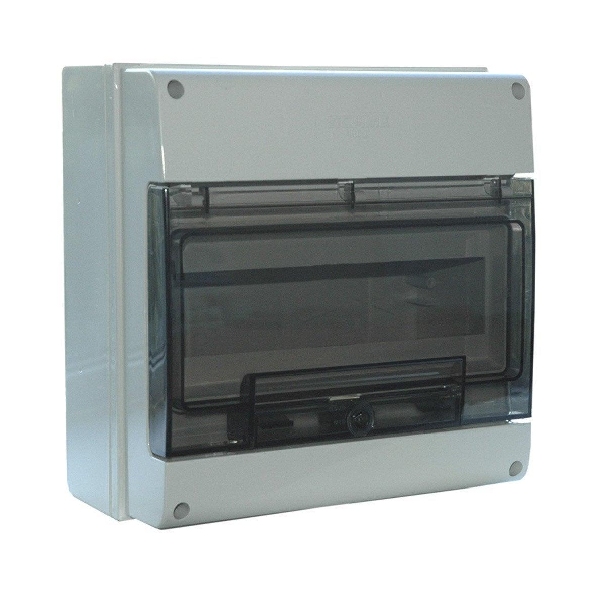 Tableau lectrique tanche nu debflex 1 rang e 12 modules - Coffret electrique exterieur ...