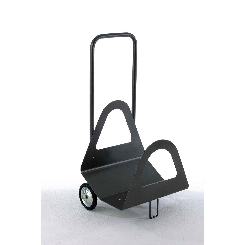Chariot b ches acier gris atelier dix neuf alpina for Fabriquer un porte buche