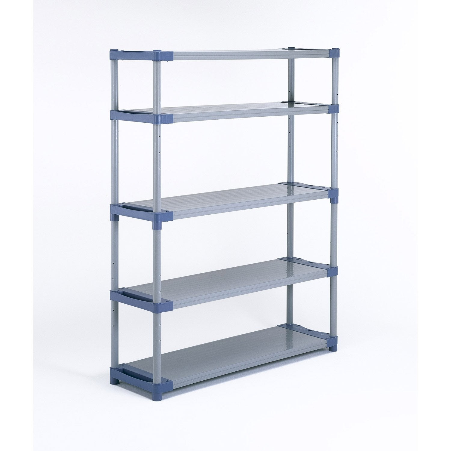 Etag re r sine grosfillex 5 tablettes gris bleu - Etagere metallique modulable ...