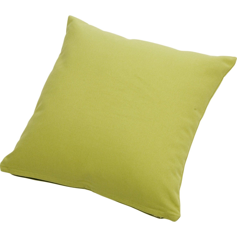 coussin bachet vert pistache n 5 40 x 40 cm leroy merlin. Black Bedroom Furniture Sets. Home Design Ideas