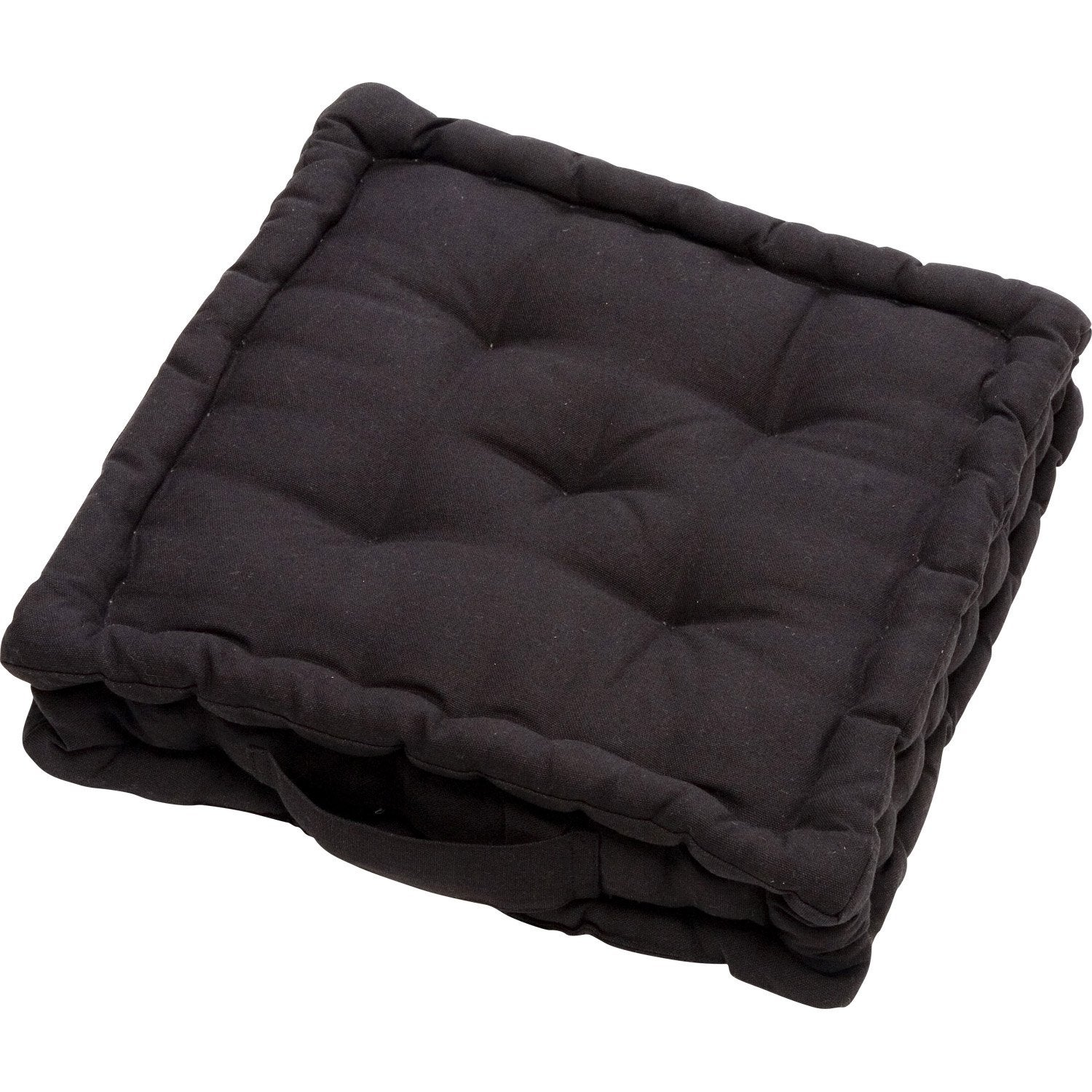 coussin de sol cl a noir noir n 0 40 x 40 cm leroy merlin. Black Bedroom Furniture Sets. Home Design Ideas