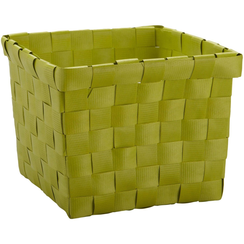 Panier en plastique Happy jaune anis n°3