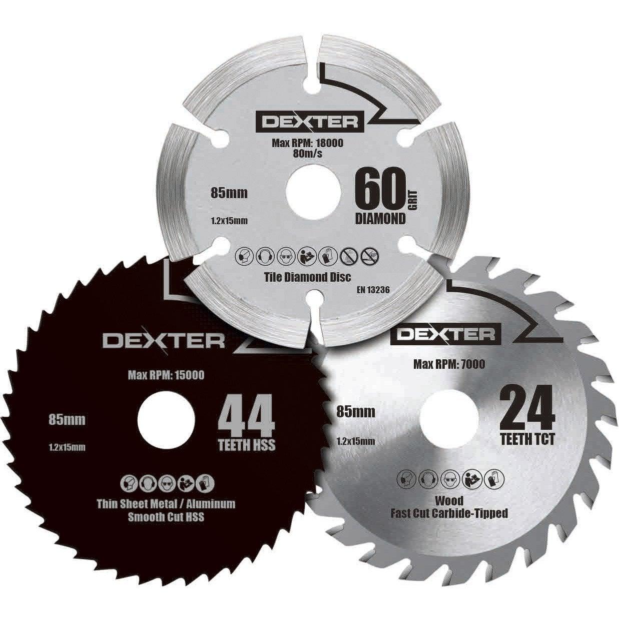 Lame Scie Circulaire : Lame coupe multiusage dexter power pour mini scie