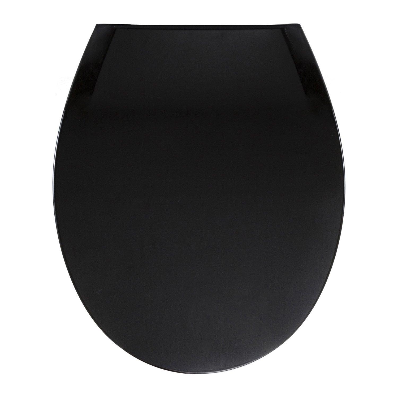 Abattant wc sensea uno noir noir n - Wc noir leroy merlin ...