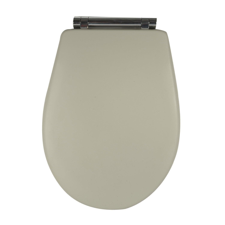 abattant wc olfa woodclip gris leroy merlin. Black Bedroom Furniture Sets. Home Design Ideas