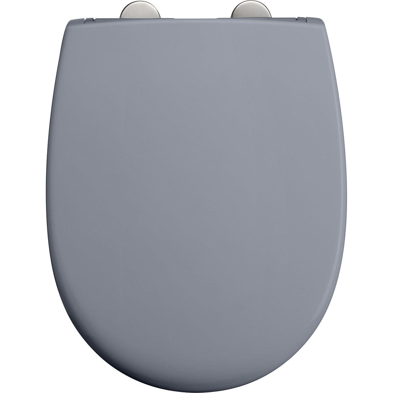 abattant frein de chute d clipsable gris plastique. Black Bedroom Furniture Sets. Home Design Ideas