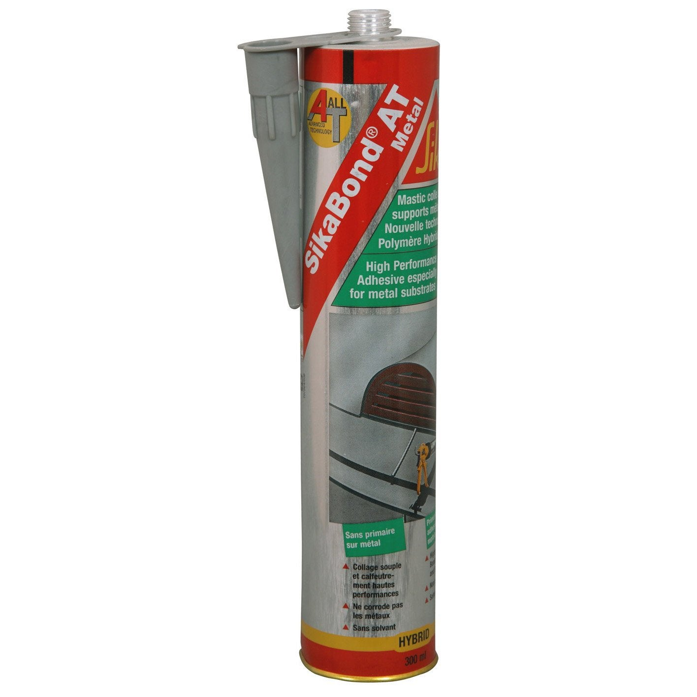 mastic colle sp cial m tal gris sika 300 ml leroy merlin. Black Bedroom Furniture Sets. Home Design Ideas