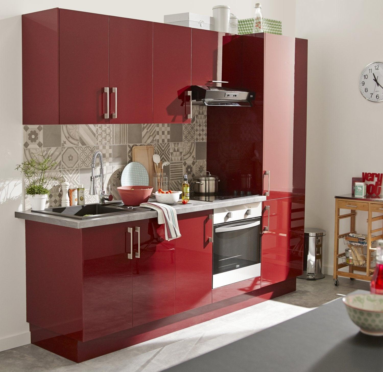 Cuisine Rouge Pour Petit Espace Leroy Merlin