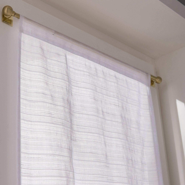 vitrage tamisant lola blanc x cm leroy merlin. Black Bedroom Furniture Sets. Home Design Ideas